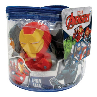 Marvel Avengers Pack 5 Muñecos Baño Simil Funko Pop
