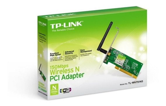 Placa Pci Wi-fi Tp-link Tl-wn751nd Increible Potencia 150mbp