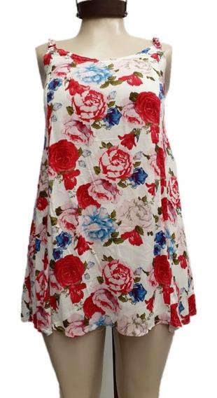 Vestidos Mujer Cortos Fibrana T. S Al 4xl Estampados 6 Cuota