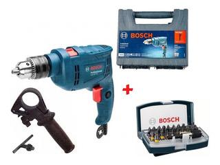 Taladro Percutor 13mm 550w Bosch Gsb 550 Re + 34 Acces