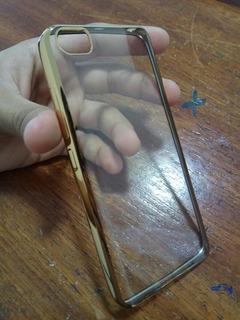 Capa Xiaomi Mi 5 Transparente Com Borda Dourada