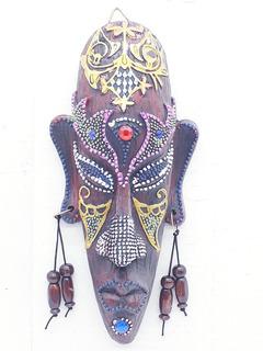 Enfeite Máscara Africana Resina Estátua Decoração F