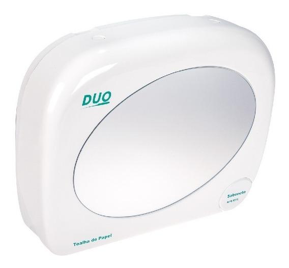 Dispensador Papel Toalha Sabonete Líquido C/espelho Duo