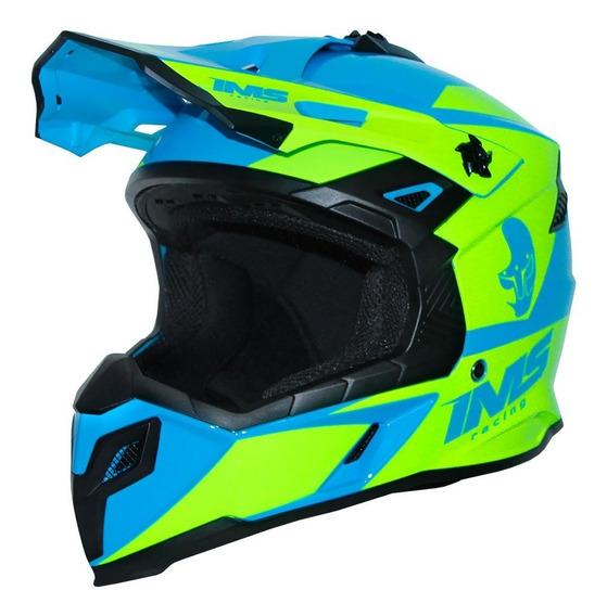 Capacete Motocross Ims Sprint 2020 Azul Fluor