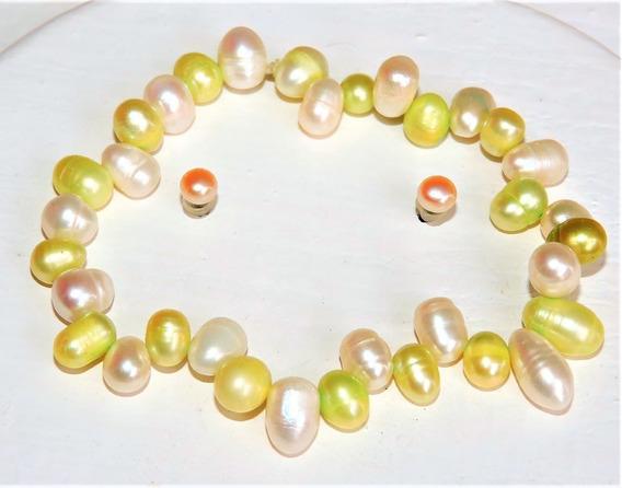 1 Pulsera Perlas Cultivadas Gota + Aretes