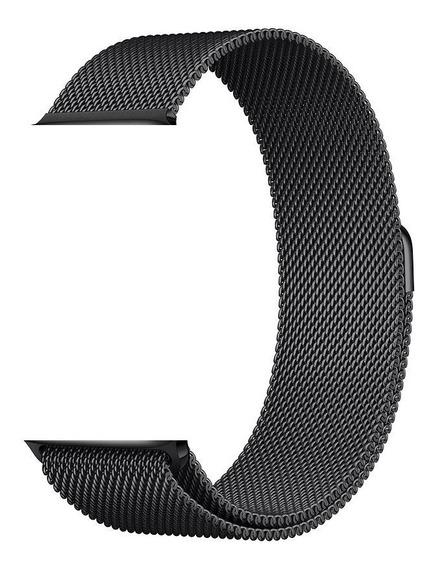 Pulseira Milanese Aço Para Apple Watch - 42/44mm - Preta