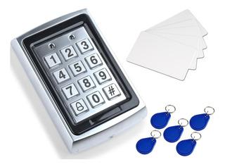 Teclado Lector Rfid Metal Control Acceso 1000 Usuarios Smart