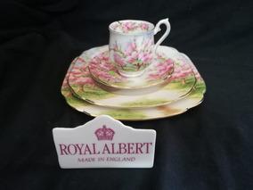 Royal Albert Quarteto Xícara De Café Mocca Blossom Time