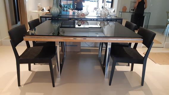 Mesa De Jantar Líder Interiores + 4 Cadeiras + Aparador