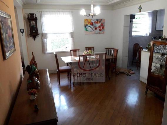 Casa Residencial No Bairro Campo Grande Com 3 Dormitórios 3 Banheiros 4 Vagas À Venda, 250 M² Por R$ 1.050.000 - Campo Grande - Santos/sp - Ca1649