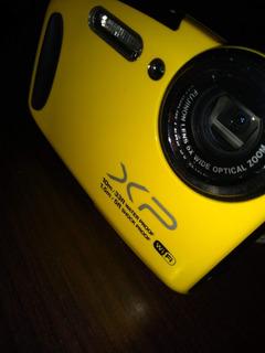 Camara Acuatica Fujifilm Amarilla. Seminueva De Muy Poco Uso