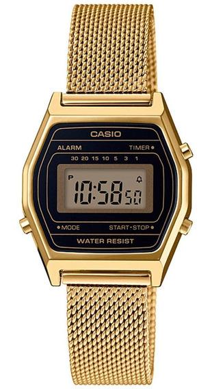 Relógio Casio Feminino Vintage Digital La680wemy 1df Dourado