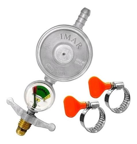 Imagem 1 de 4 de Registro Gás Regulador Válvula Imar Botijão Manômetro