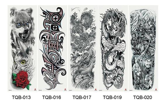 5 Sheets Completo Braço Temporário Tatuagem , Grande Elegant