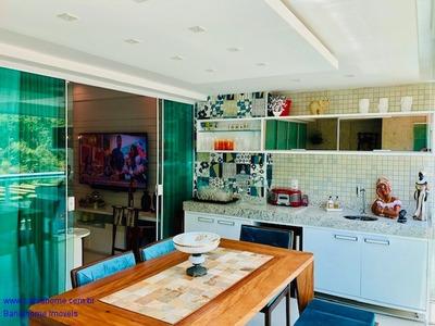 Apartamento Costa Espanha 68m² Com 1 Quarto, Suíte E Lavabo - Mobiliado / Varanda Gourmet - Ap00659sh