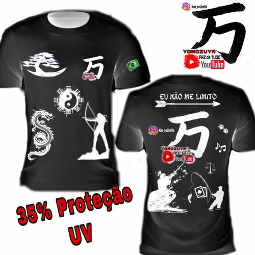 Imagem 1 de 7 de Camiseta Camisa Blusa  Dry 35% P. Uv  Yorozuya+ Frete Grátis