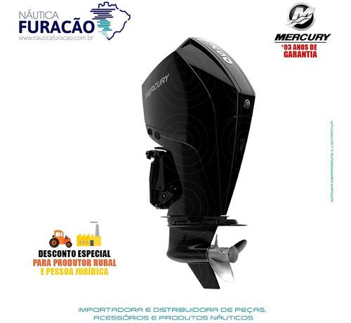 Motor De Popa Mercury 4 Tempos 250hp Xl V8 Mecânico Preto