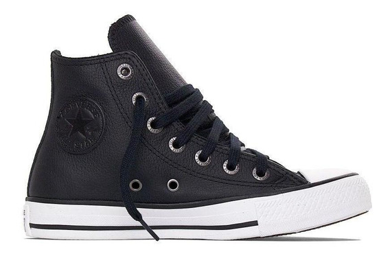 Tênis All Star Hi Leather Ct044902 Converse Casual Preto