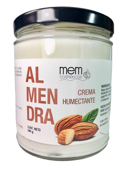 Crema Con Aceite De Almendras Dulces 240g Cruelty Free & Veg