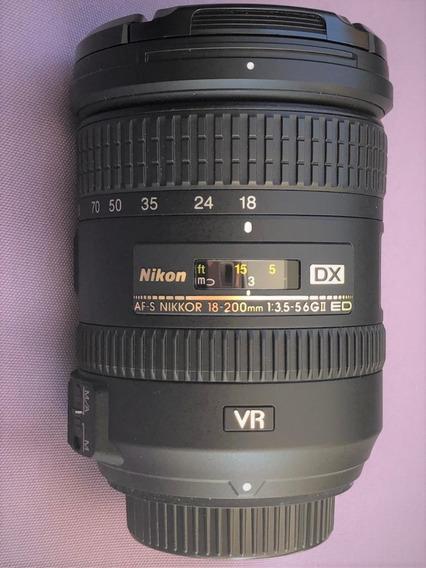 Lente Nikkor Af-s 18-200mm 3.5-5.6 Gii Ed Dx