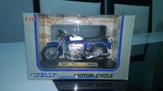 Miniatura Welly Moto Bmw R 75/5 Escala 1:18