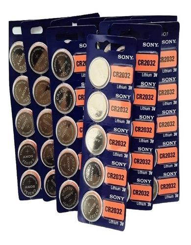65 Baterias Pillhas Sony Cr 2032 Original 3v Atacado Relogio