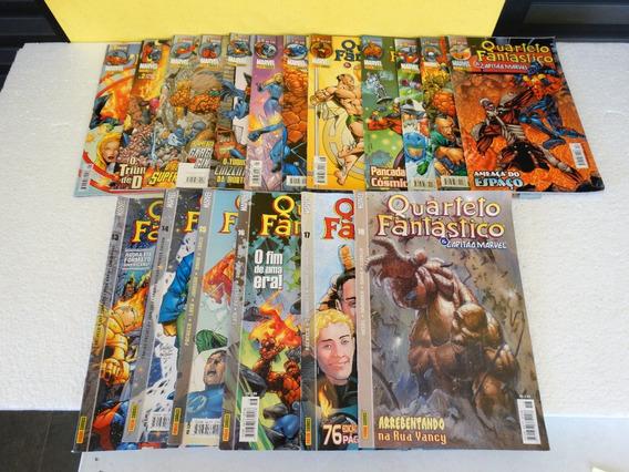 Quarteto Fantástico E Capitão Marvel Nºs 1 A 18! Panini 2002