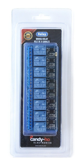 Modulo Relay Rele De 8 Canales 5v Candy-ho Blister Y Manual