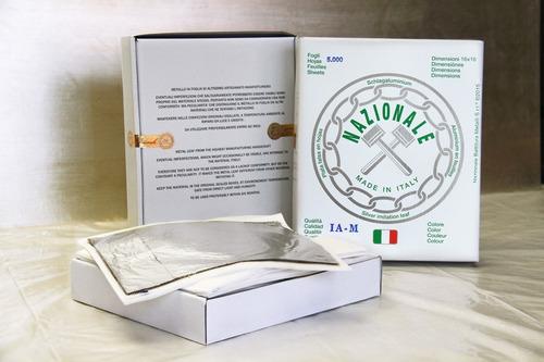 100 Folhas De Prata 16x16 Italiana Nazionale Prima-prima