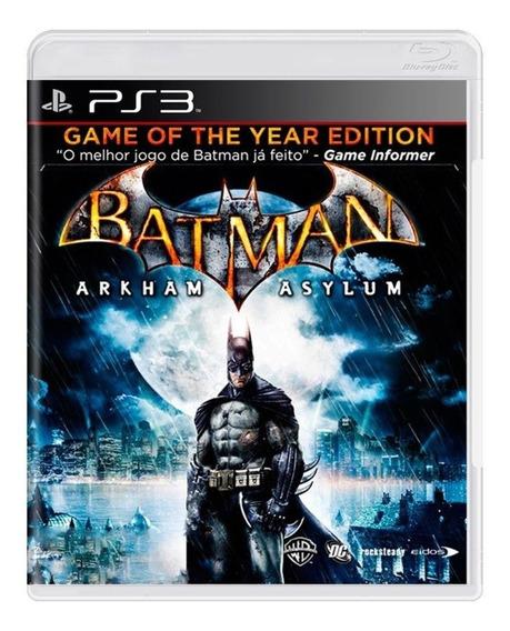 Batman Arkham Asylum Ps3 Original Seminovo