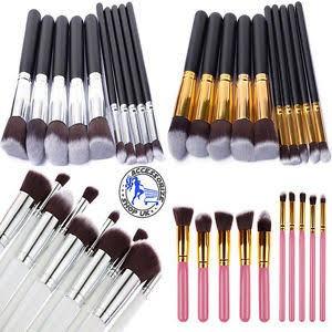 Set 10 Brochas Estilo Kabuki Maquillaje