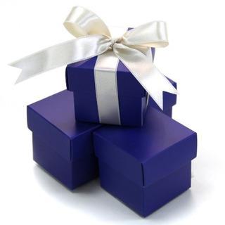 Koyal 2-piece 10-pack Cajas Cuadradas Favor, Royal Blue