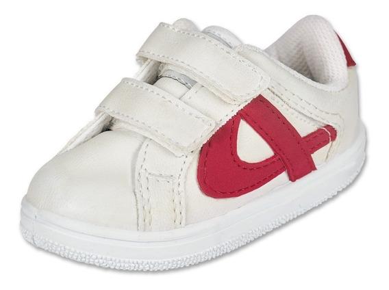 Calzado Bebe Niño Tenis Casual Panam Tipo Piel Blanco Comodo
