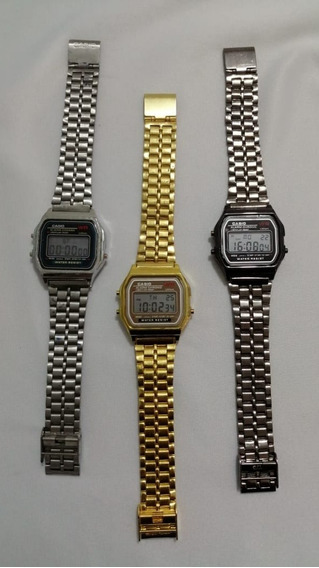Reloj Vintage A168 Digital Metálico