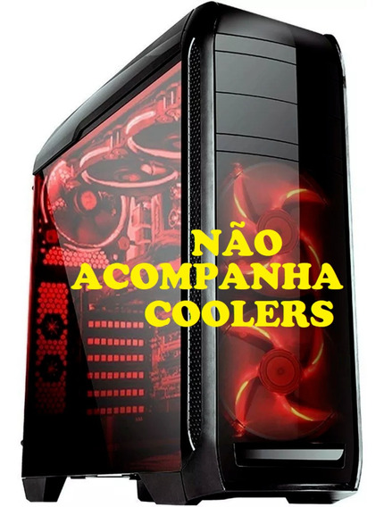 Gabinete Gamer Bluecase Bg-024 Tampa Lateral Aclilico Barato - Sem Cooler/fonte - Suporta Até 5 Coolers Fan Water Cooler