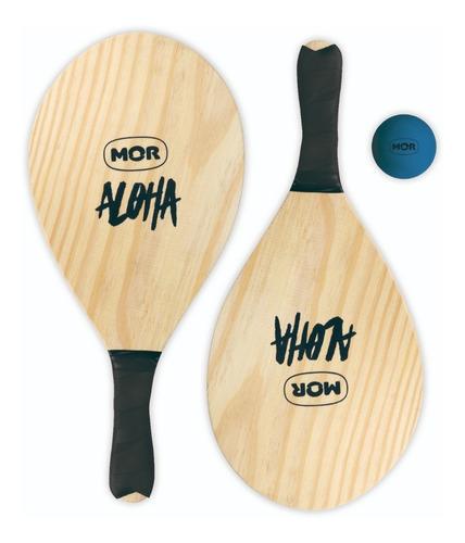 Juego Paletas Playero Aloha Frescobol Playa Pelota