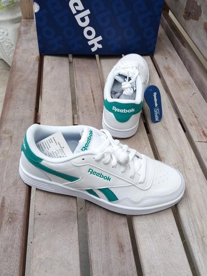 Tênis Reebok Classics Royal Techque Branco Verde Leather
