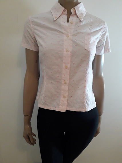 System Basic Camisa Broderie Rosa Talle S Impecable