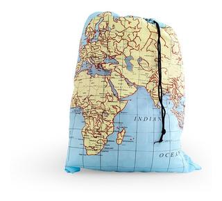 Bolsa Para Lavar Ropa Sucia Diseño Mapas Lb06mp Kikkerland