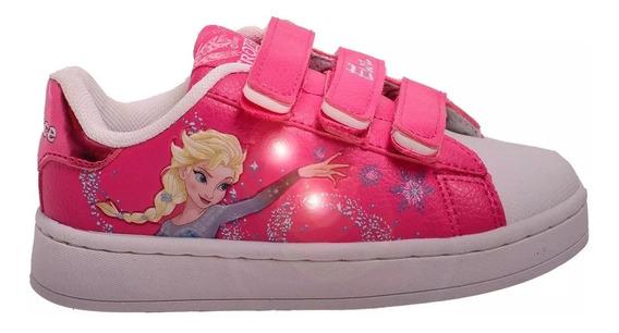 Zapatillas Addnice Niñas Modelo Flow Frozen Fucsia Abrojo