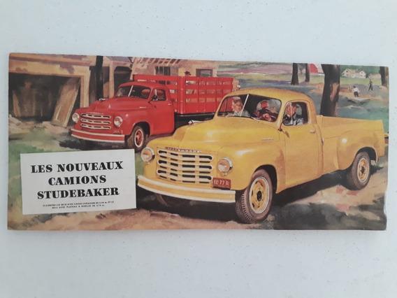 Folder Brochura Caminhão Studebaker 2r5 2r16a 2r17a 1950