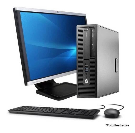 Computador Hp 800 G2 Core I5 6ªg 4gb Ssd 120gb + Monitor 22