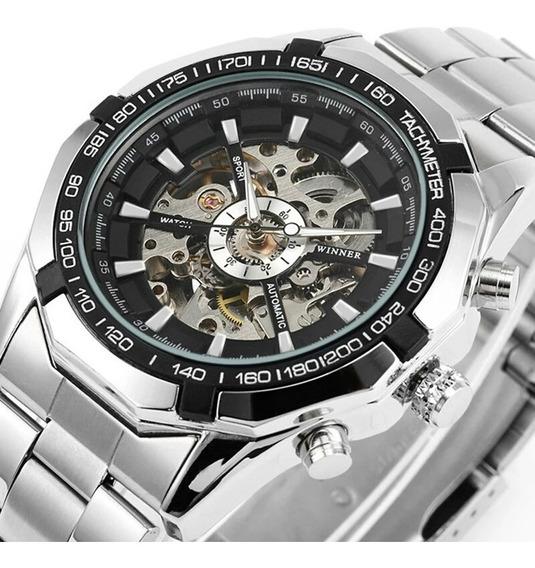 Relógio Winner,automático E A Corda,masculino, Modelo 101