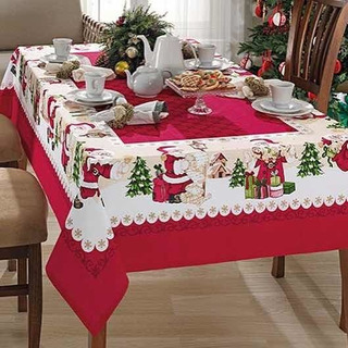 Mantel Navideño Navidad 1,40x2,10 Mts Importado Brasil
