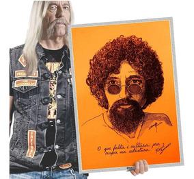 Raul Seixas Poster Quadro Placa Vintage Retrô Rock T. A2 25
