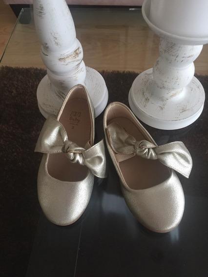 zapatos dorados zara niña