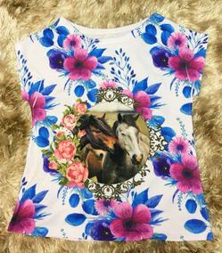 cace8bf3d8 T Shirt Feminina Country Manga Curta Feminino - Camisetas e Blusas ...