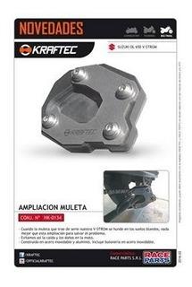 Ampliacion De Muleta Kraftec Suzuki Vstrom 650 Moto Delta
