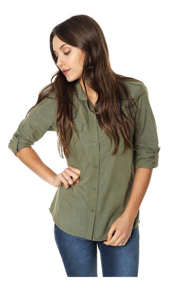 Camisa Con Charreteras Mia Loreto Modelo Sally