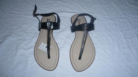 Sandalias Sifrinas Color Negro Talla 40 Nuevas